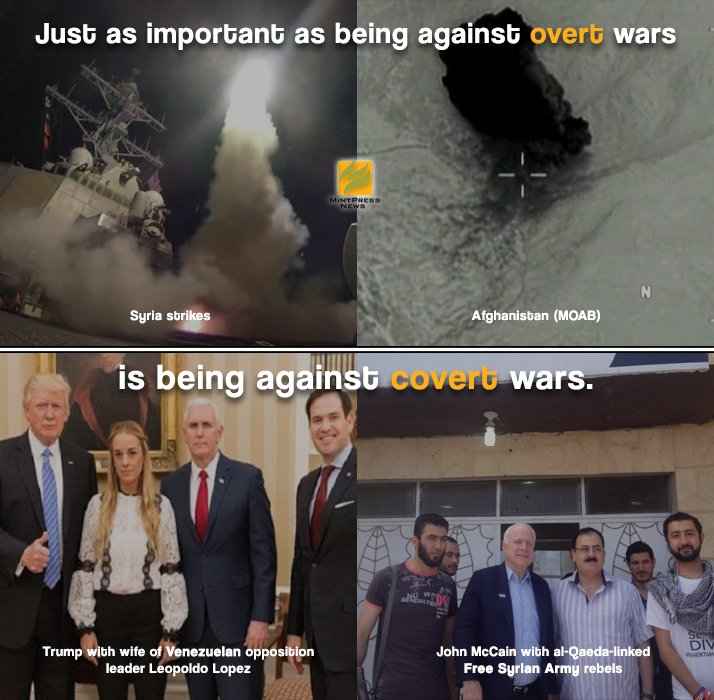 From #Venezuela to #Syria, put an end to covert wars and color revolutions!   Become a MintPress #CitizenActivist:  https://www. patreon.com/mintpressnews  &nbsp;  <br>http://pic.twitter.com/7HSMyRB5ZC