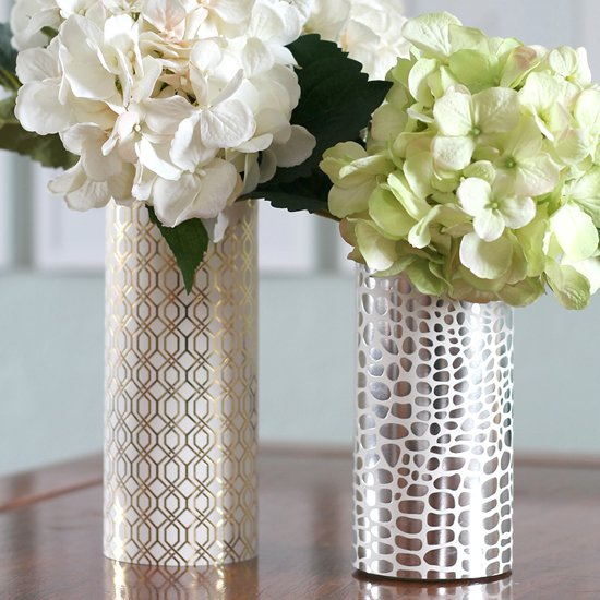 DIY Geometric Metallic Vase