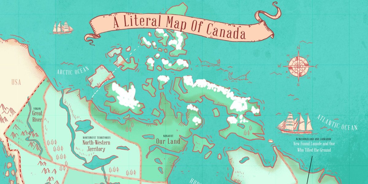 Map reveals name origins of Canada's provinces and territories https:/...