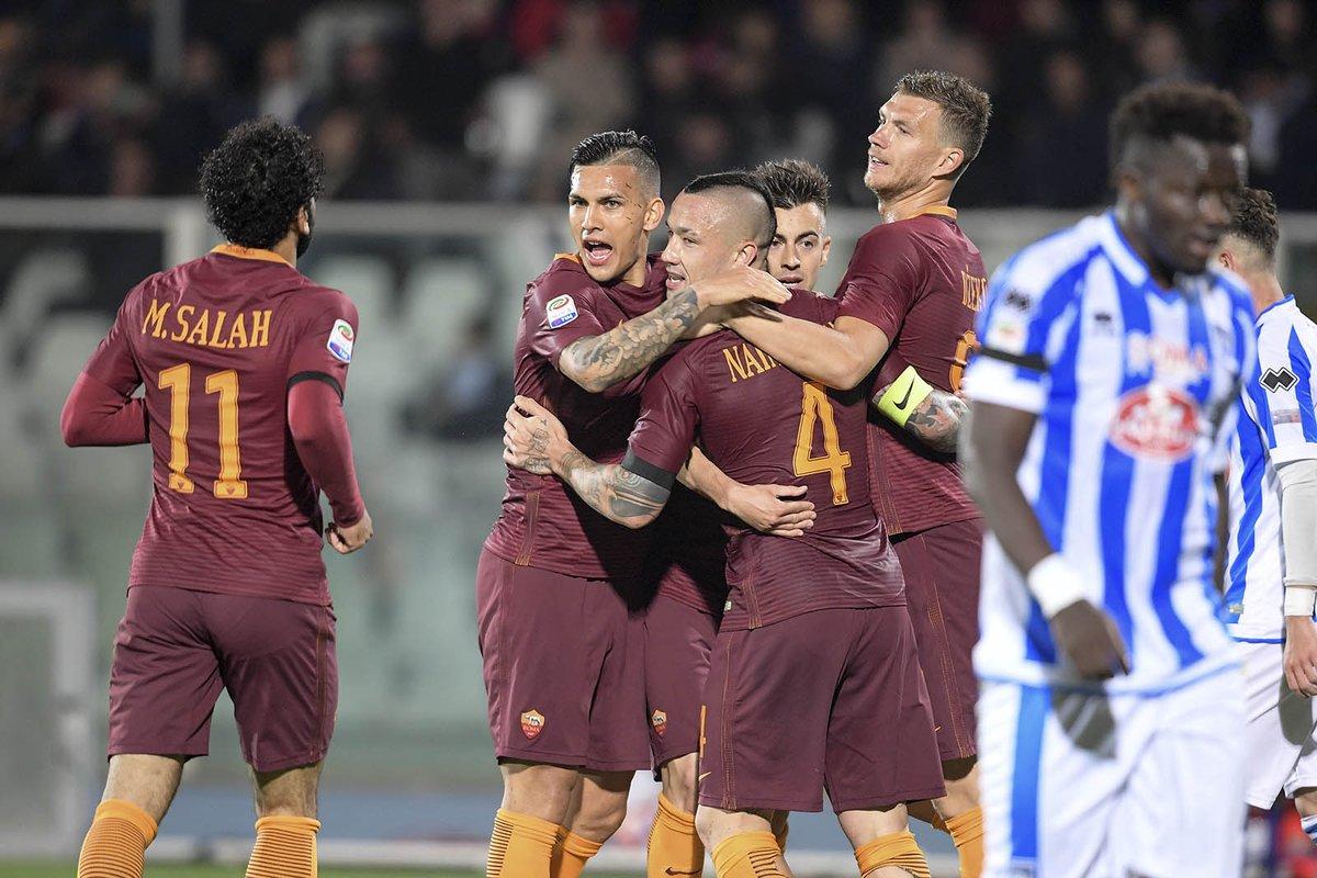 Posticipo Serie A: la Roma vince 4-1 e il Pescara è in Serie B