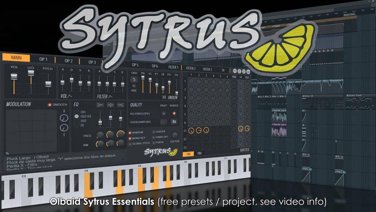 Free Olbaid Sytrus Essentials Sound Bank By Carlos Montalvo  http:// dlvr.it/Nz8gSn  &nbsp;   #Music <br>http://pic.twitter.com/kNZT5wSw78