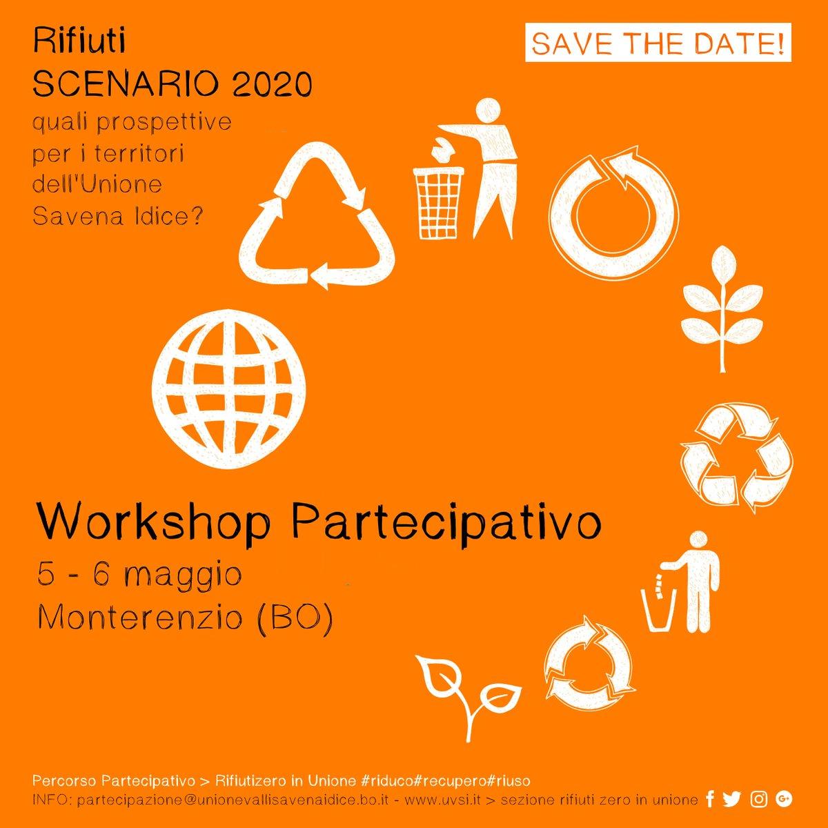 #Rifiuti #scenario 2020 #workshop #partecipativo a #Monterenzio &gt; #rifiutizero in unione #riduco #recupero #riuso 5-6 aprile save the date!<br>http://pic.twitter.com/njp9XrJaAe