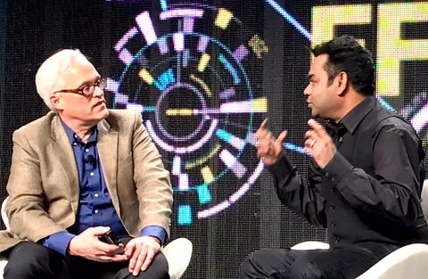 At #NABShow? Visit the @Intel booth (SU9410) for a reception with Grammy award winning musician @arrahman!