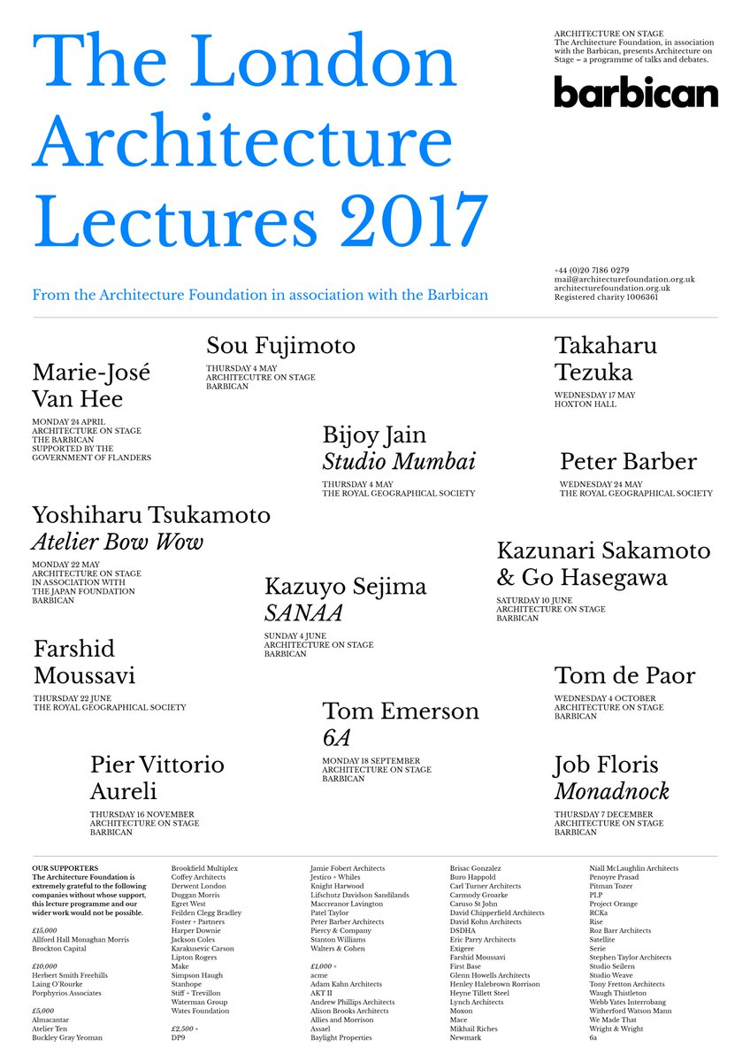 New Poster! The London Architecture Lectures 2017  More TBA. https://t.co/LZlFpnxCZb