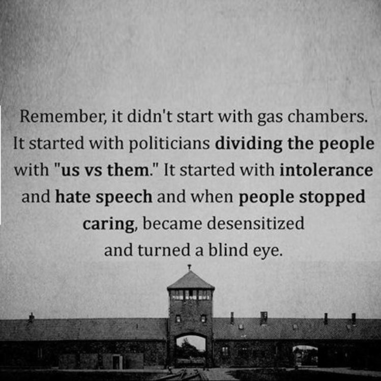 'It started with politicians dividing the people...'  #HolocaustRememb...