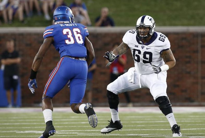 #Vikings = good bet to take at least 2 OL. They met w/ Aviante Collins (TCU) at Combine. Great #s in Indy, can play mult. spots. Intriguing. <br>http://pic.twitter.com/X6cIB4XSYH