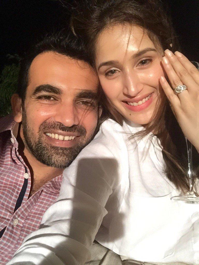 Zaheer Khan got engaged