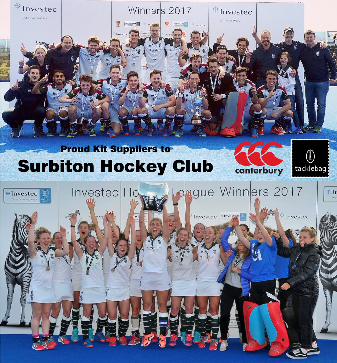 Men's Premier Division & Women's Premier Division CHAMPIONS 2016-17! Massive congratulations to @SurbitonHC #CHAMPIONS #CommittedToTheGamepic.twitter.com/Rj4eoml9As