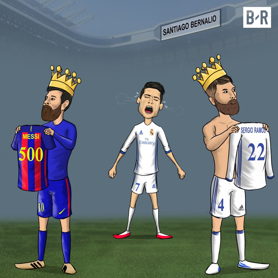Forca Barca On Twitter Cartoon Leo Messi Scored His 500th Goals In Santiago Bernaleo
