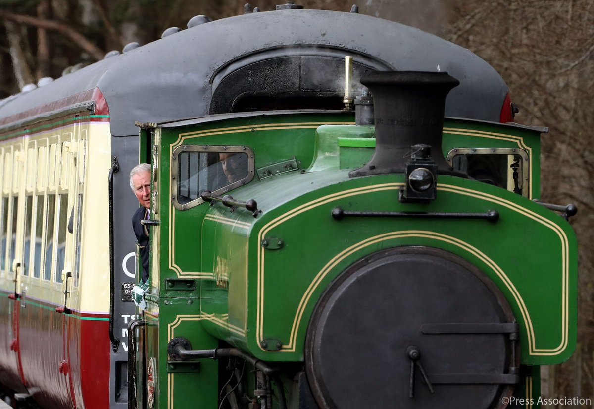The Duke of Rothesay visited the Royal Deeside Railway today and was able to drive a refurbished train which was damaged by vandals in 2015.
