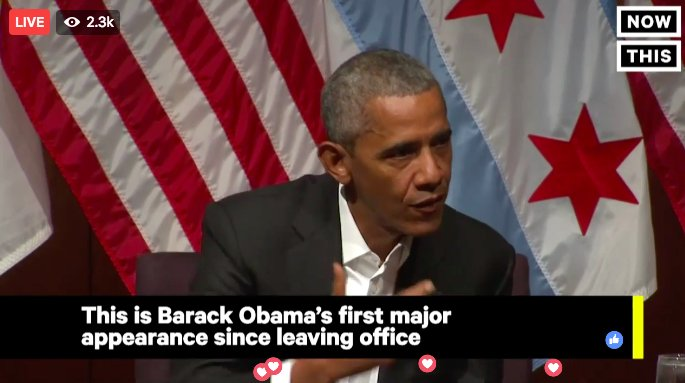 LIVE: Obama delivers his first public speech since leaving the White House  Watch live: