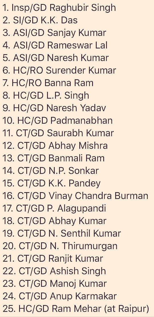 The 25 CRPF braves lost in #Sukma today. Thoughts solely with their fa...