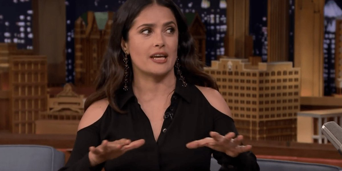Salma Hayek has quite the story about her husband's 'affair' with an app huff.to/2oEC7iG