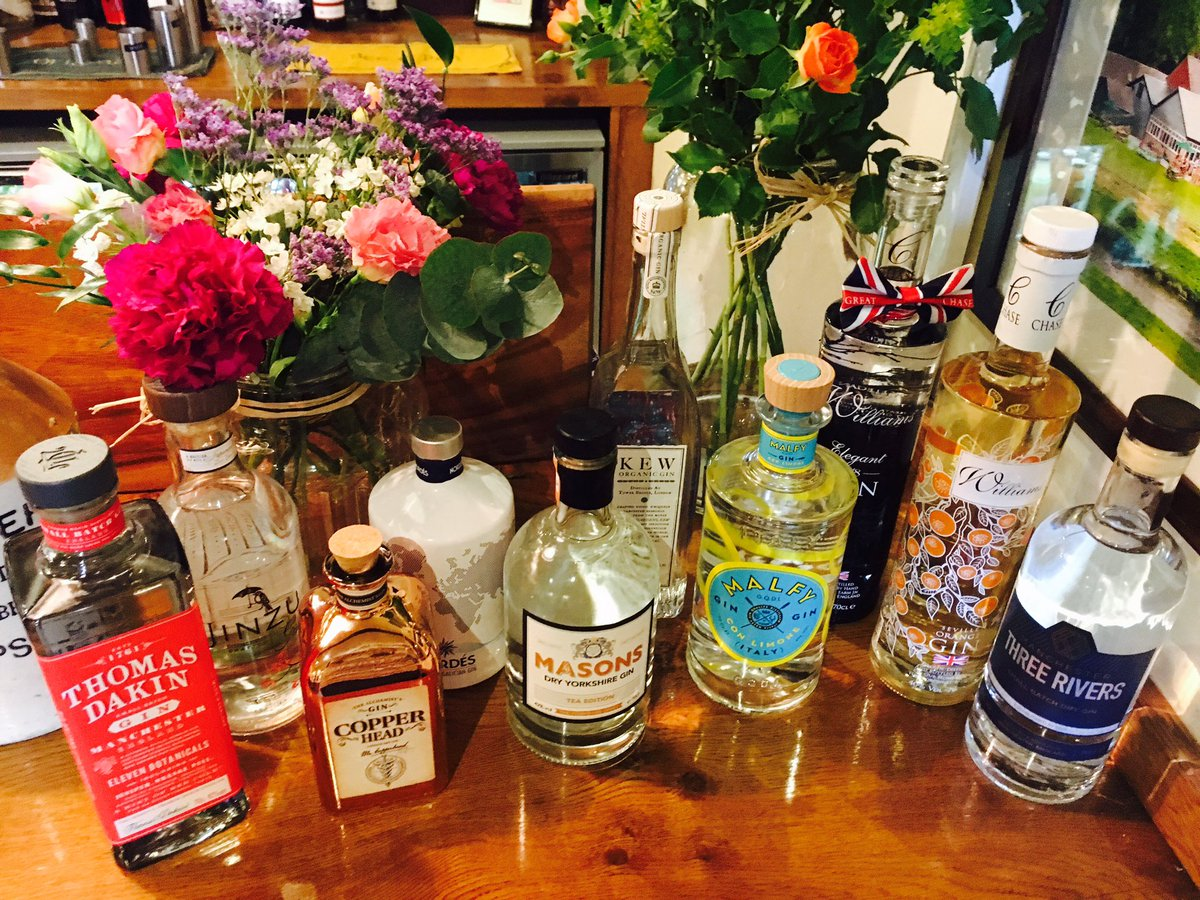 Plenty of new gins arriving for the #gin #beer &amp; #jazz festival this weekend! #RV #Festival #BankHolidayWeekend <br>http://pic.twitter.com/S5ZwvevaXE
