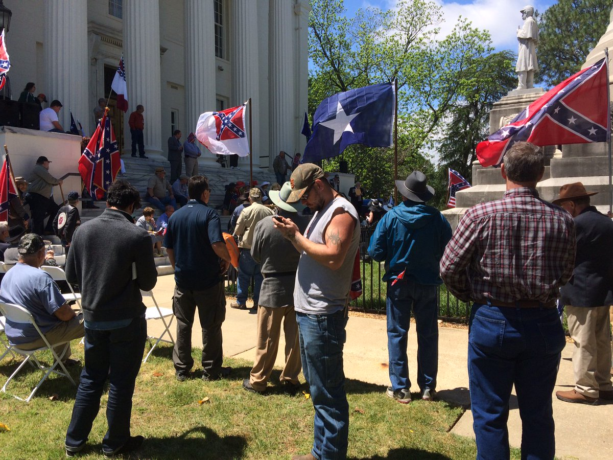 Confederate Memorial Day event taking place outside Alabama's capitol...