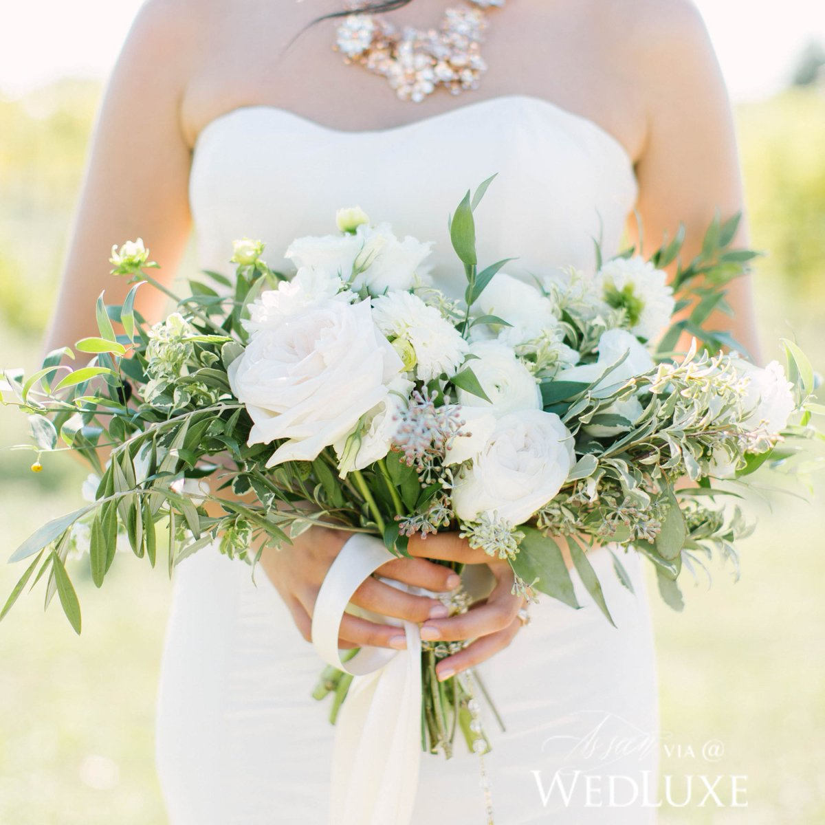 This organic bouquet has us dreaming of the Tuscan countryside. See mo...