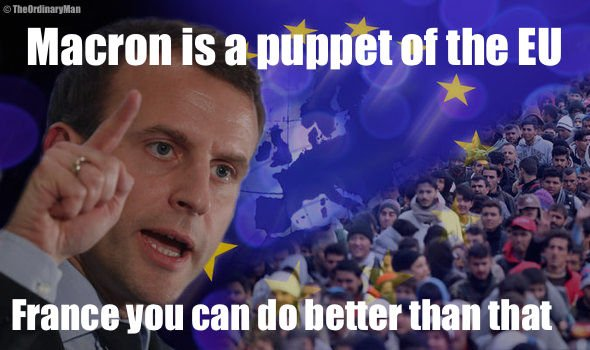 #Macron is a puppet of the #EU,  you can do better than that #France  #FrenchElections #France2017 #LePen #No2EU #EUspring #Frexit<br>http://pic.twitter.com/13kVPUqwuj