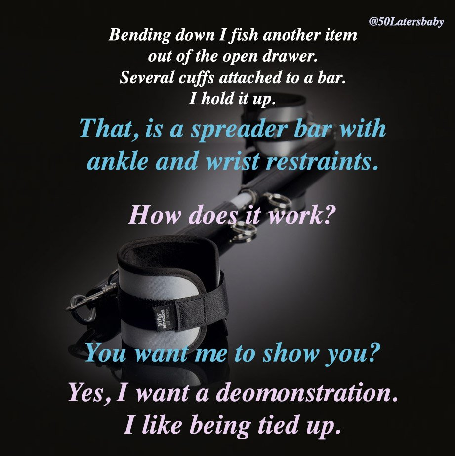 Yes, I want a demonstration. I like being tied up. #FiftyShadesDarker...