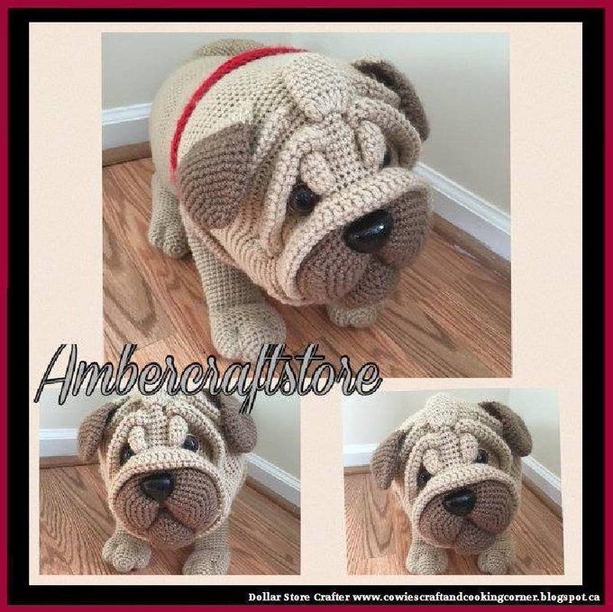 Pug Dog Crochet Pattern