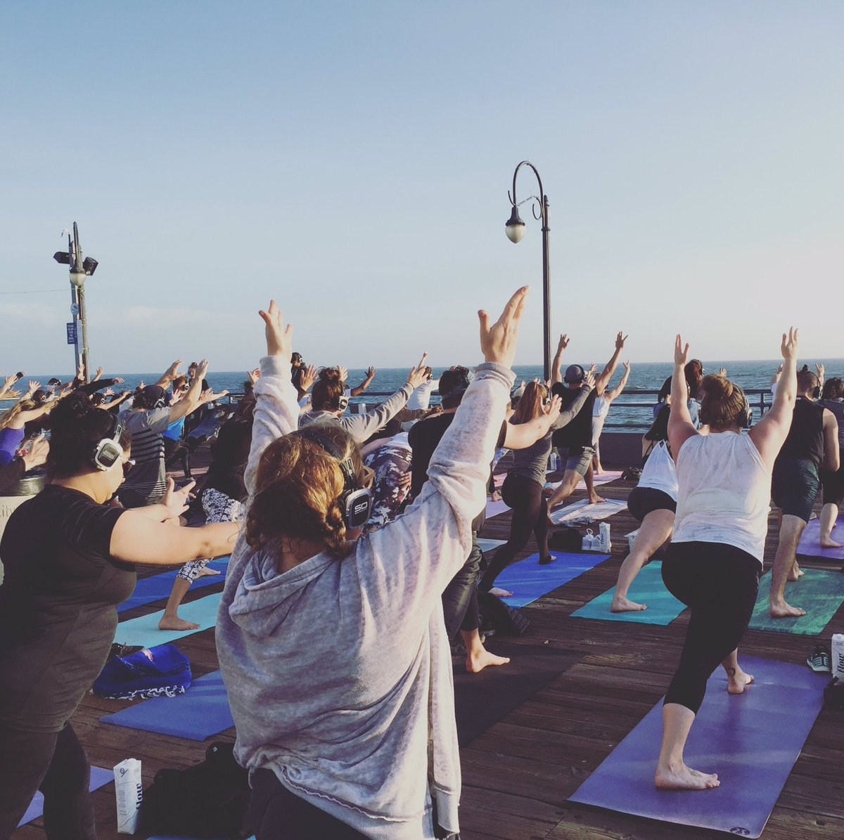 Yoga on the Santa Monica pier was amazing last night! #morelife https:...