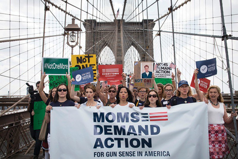 Mothers rally against gun violence during NRA meeting