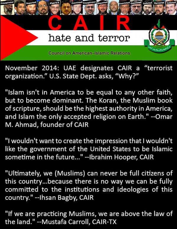 #CAIR is a #terror #hate organization! #Parents do not allow  them 2mandate in our education System!  http:// ow.ly/Bg3n30b81dF  &nbsp;   Click on link<br>http://pic.twitter.com/dBruGiEcSn
