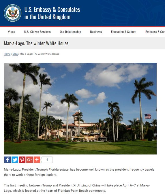 Why is Mar-A-Lago being promoted on two State Department websites?   https://t.co/OBIsewMGZW  https://t.co/sNjnW2E7zX