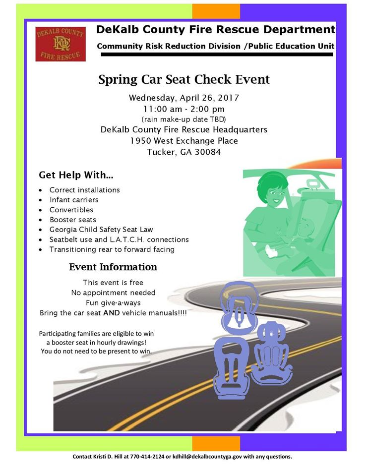 DeKalb County GA On Twitter DCFRPubAffairs Will Host A Spring Car Seat Check Event Wednesday From 11am