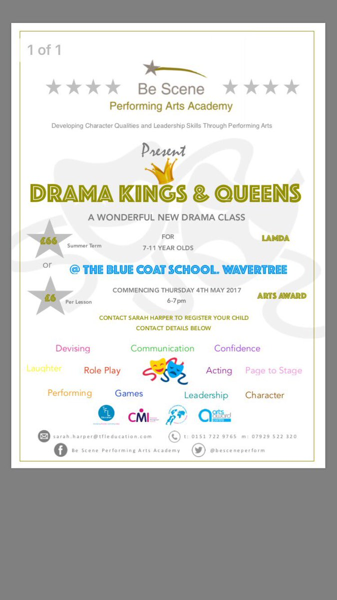 Enrolling now for @Be Scene classes in @LiverpoolBCS #Drama #Confidence #Communication #Character #Leadership #SouthLiverpoolHour #Liverpool<br>http://pic.twitter.com/dxZIibBwvp