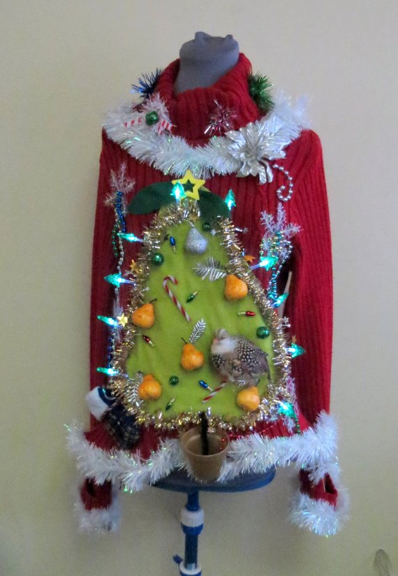 Hilarious &#39;Partridge in a Pear Tree&#39; Ugly #Christmas #Sweater by @ChristmasSweat3. #xmas #festivus  http:// etsy.me/2ermHw9  &nbsp;   via @Etsy<br>http://pic.twitter.com/23MbzYCeqW