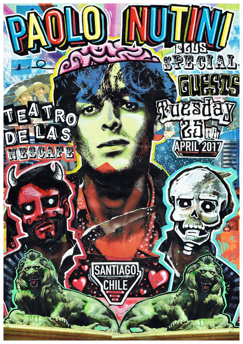 Paolo plays @Teatro_NESCAFE in Santiago tomorrow night with @isabela_music_…limited tickets available, book now at paolonutini.com