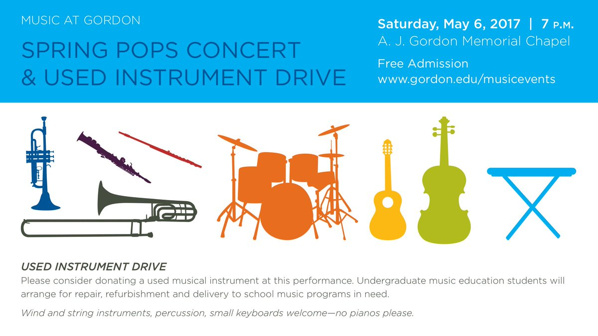 Have an old #brass, #woodwind or #percussion instrument?  @gordoncollege music students want to fix it for a school that needs it.<br>http://pic.twitter.com/VlzMkfloxU