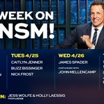 We're back with a great week of shows: Jason Sudeikis, @Caitlyn_Jenner, James Spader, @BernieSanders and more!