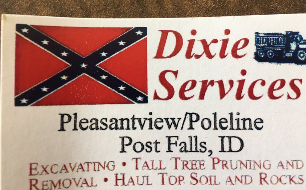 Drew reeves on twitter this is what the business cards look like drew reeves on twitter this is what the business cards look like for dixie services the trucks also have confederate flags on them kxly colourmoves