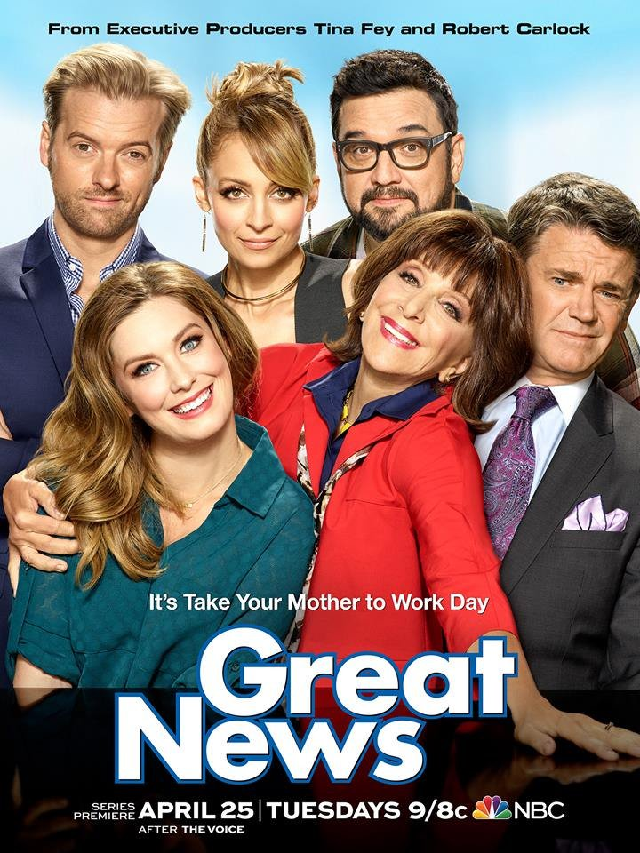 Watch my new sitcom #GREATNEWS when it premieres TOMORROW NIGHT, right...