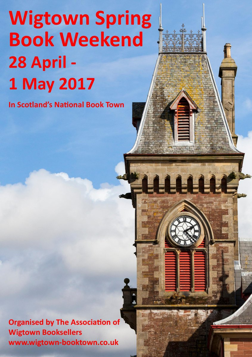 28 April - 1 May 4 days of #readings #talks #music #theatre #art #crafts in @ExploreWigtown &amp; @SwallowTheatre see  http://www. wigtownbookfestival.com  &nbsp;  <br>http://pic.twitter.com/KO1cMSei1B