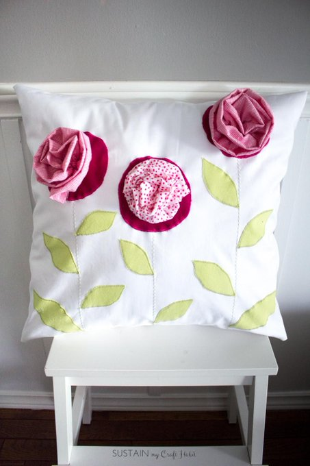 DIY Gift Idea for Mom: Remember Lil'Me Upcycled Throw Pillow