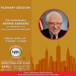 Bernie Sanders will be addressing the #NANCONV2017 on Friday. Join us by registering for free https://t.co/05CWxaUALf