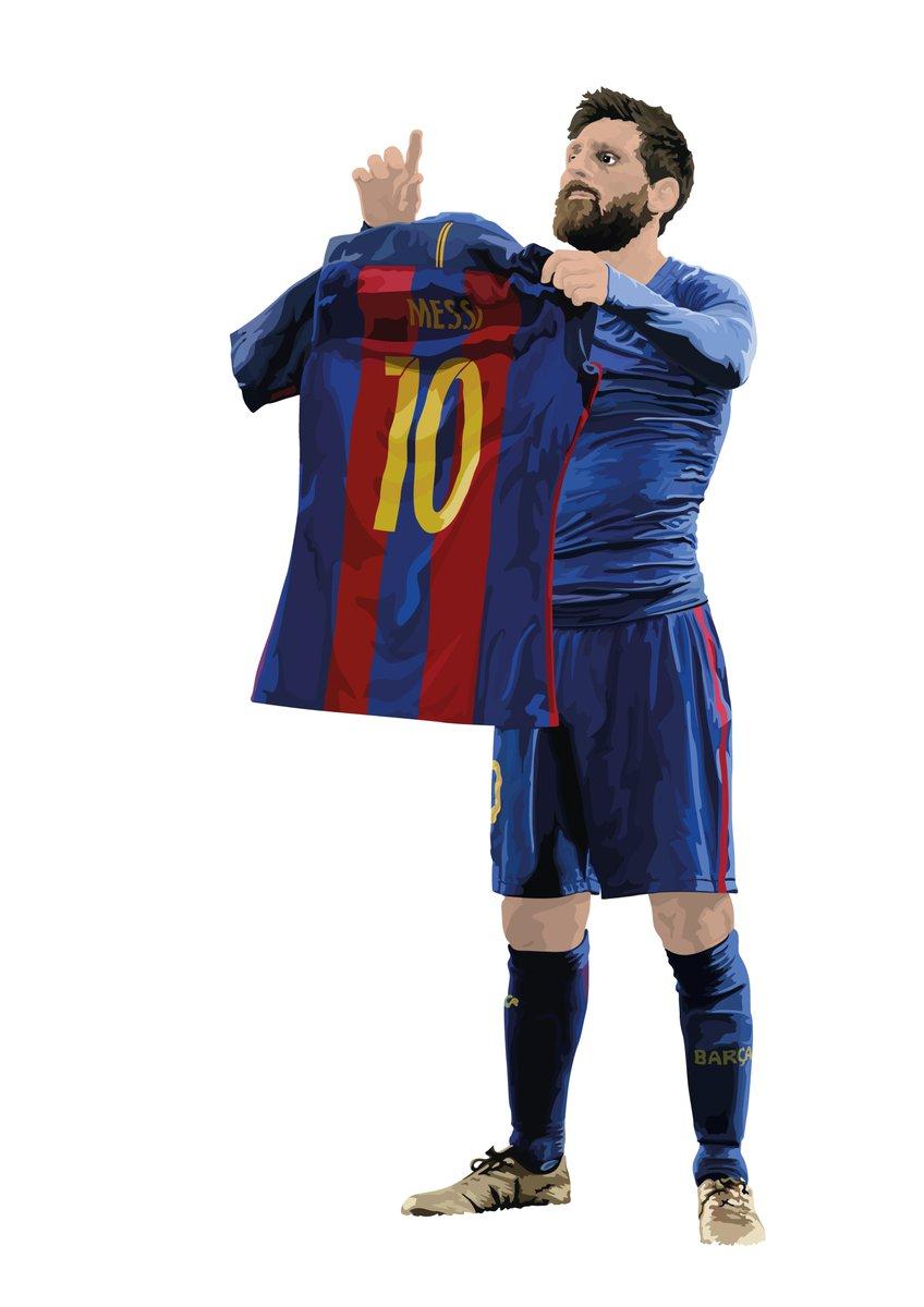 The GOAT.  New @TeamMessi piece.  RTs Appreciated.  #Messi  #ElClasico  #Barcelona <br>http://pic.twitter.com/ZpWJ2MKfTt