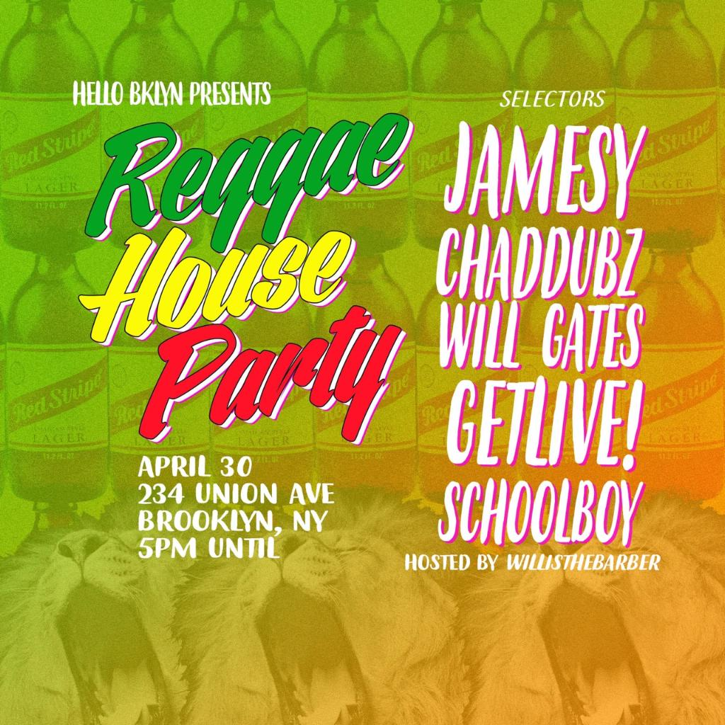 This Sunday = #ReggaeHouseParty X 70 degrees X Free https://t.co/eWiMCwc42N