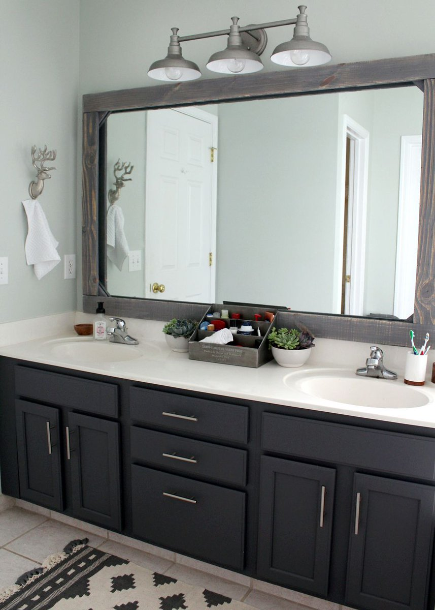 Sherwin williams on twitter no big budget no big prob for Bathroom vanity ideas budget