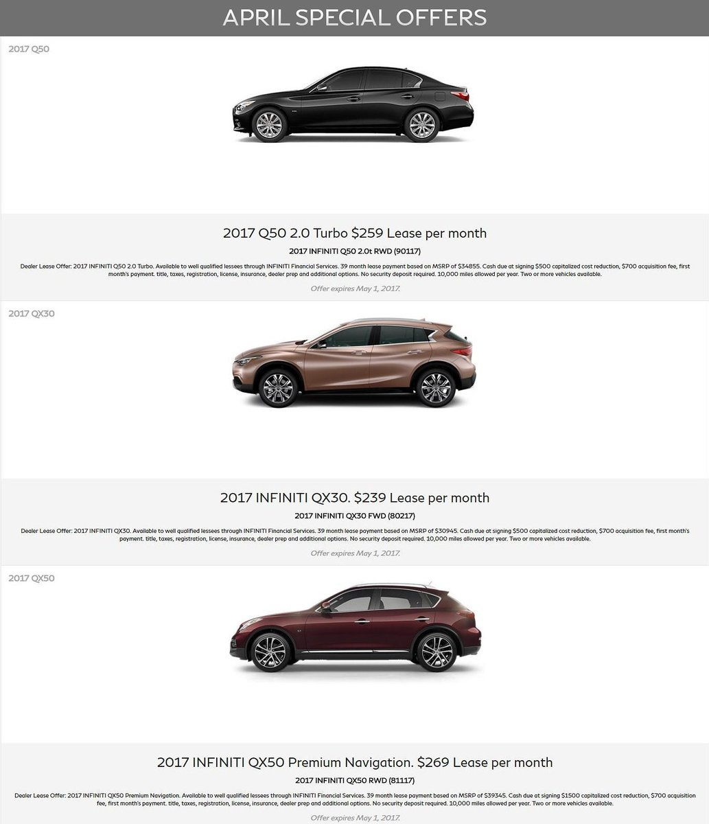 new and van infinity specials dealer car is a of infiniti nuys special