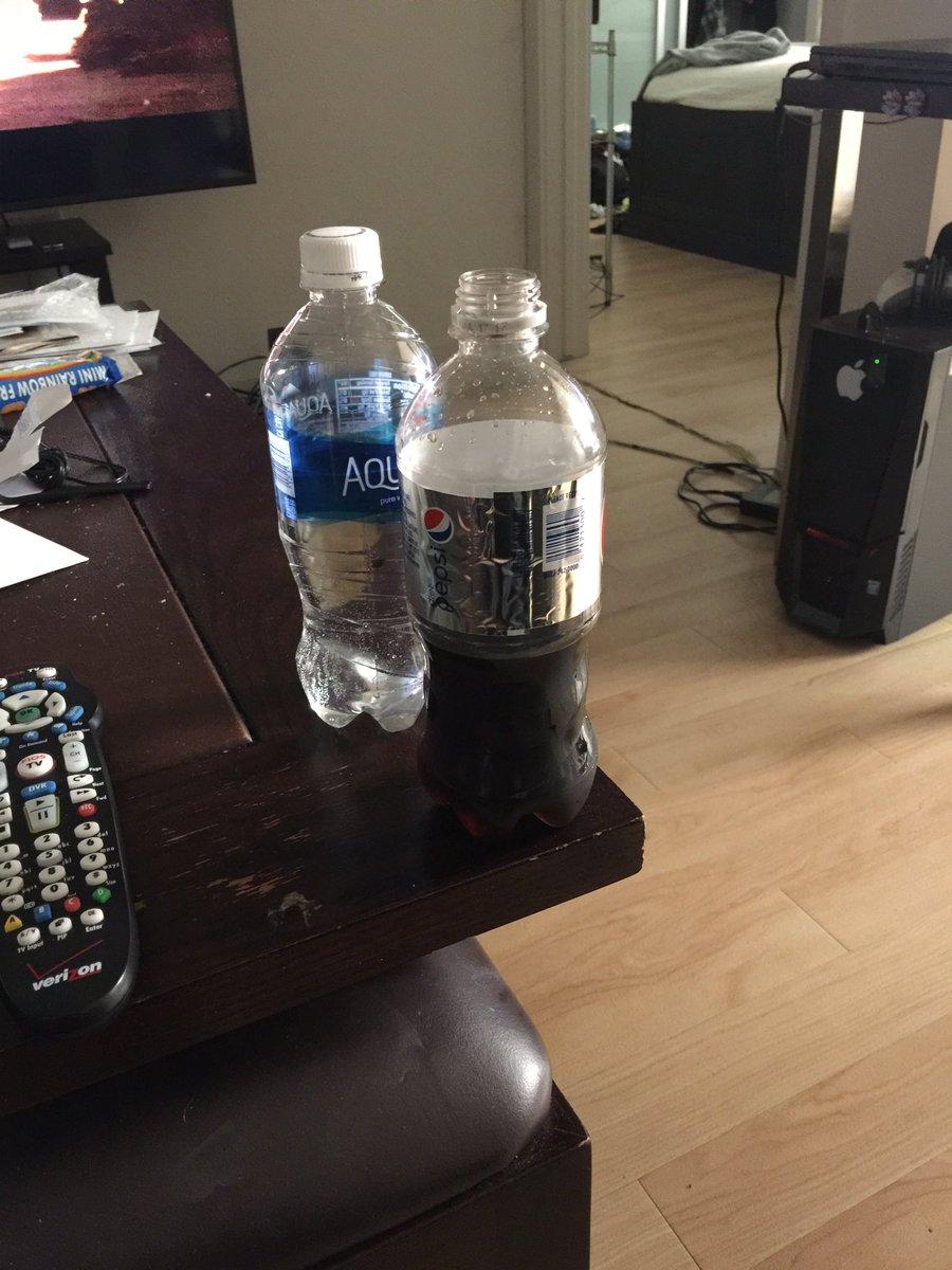 Fucking a pepsi bottle