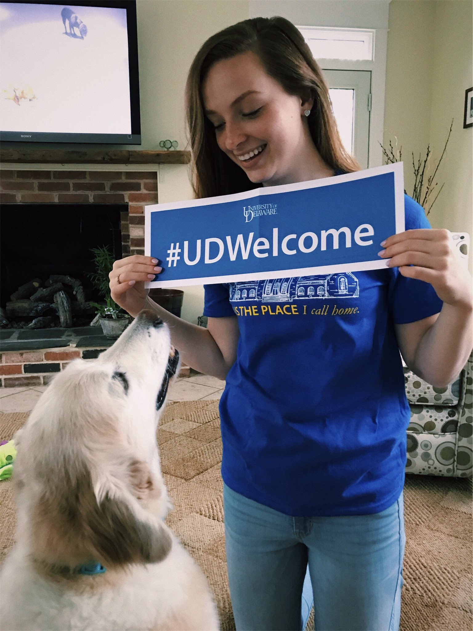 Maxy and I are both excited that I finally committed to UD!! 💙 #UDWelcome https://t.co/ytGRMCWOXJ