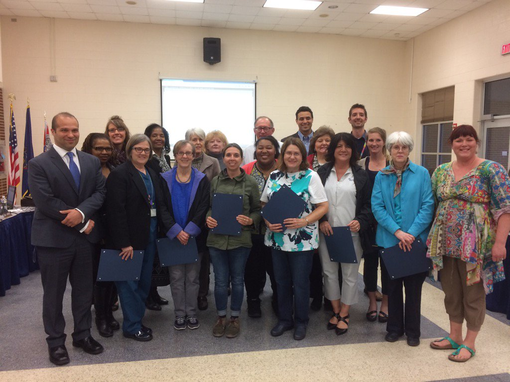 Pottstown Schools Walking School Bus volunteers honored have walked enough miles to get to Ohio says Genova. https://t.co/szeQxr5lsM