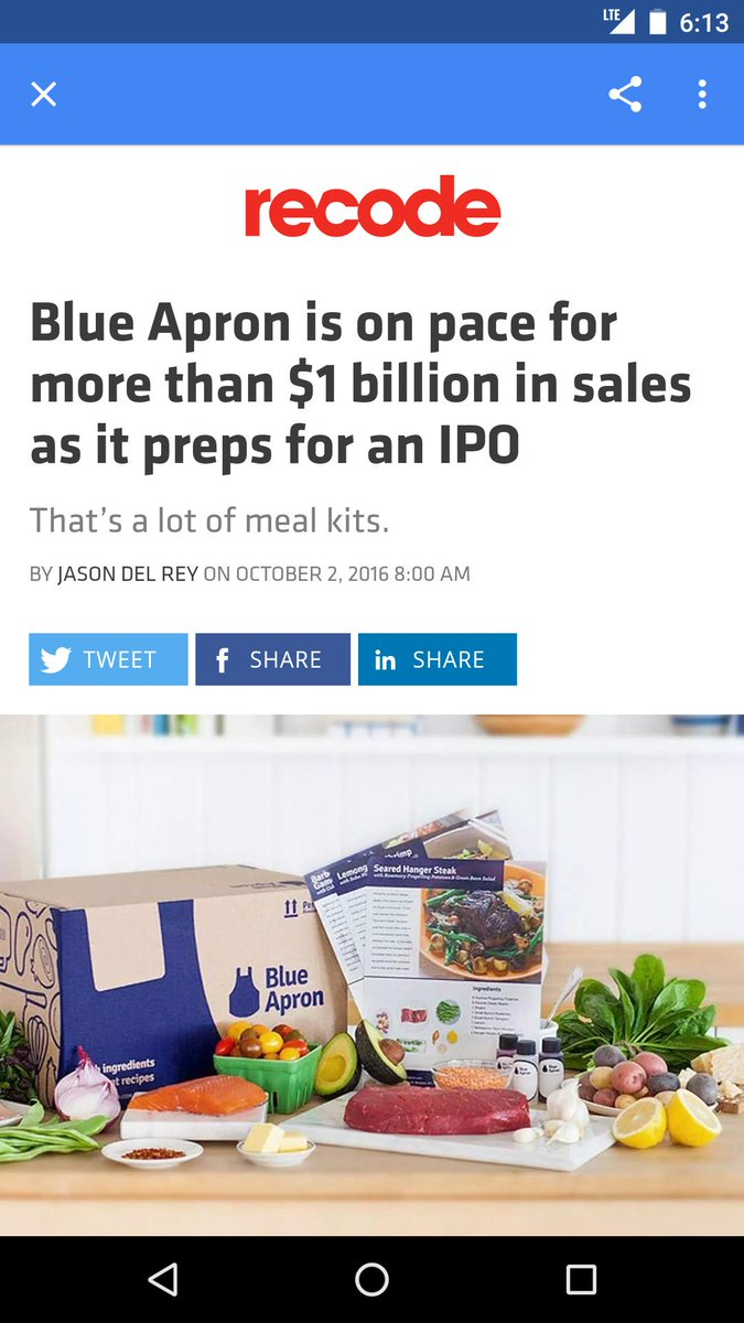 Blue apron email