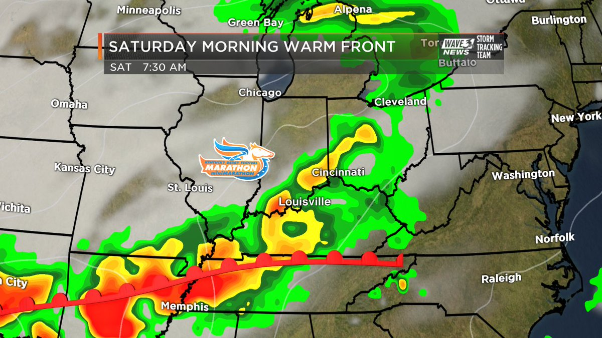 A warm front may trigger some rain on Saturday morning. Keeping an eye...