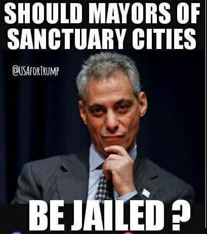 Should mayors of sancutary cities be jailed?🤔  yes!!!   🇺🇸 #LockThemUp  #MAGA #Trump #