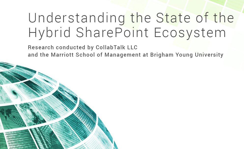 Just published some thoughts on research by #CollabTalk on my blog at https://t.co/yo1C6yDhVf Hybrid #SharePoint #tyGraph https://t.co/9gfmwOPbP6