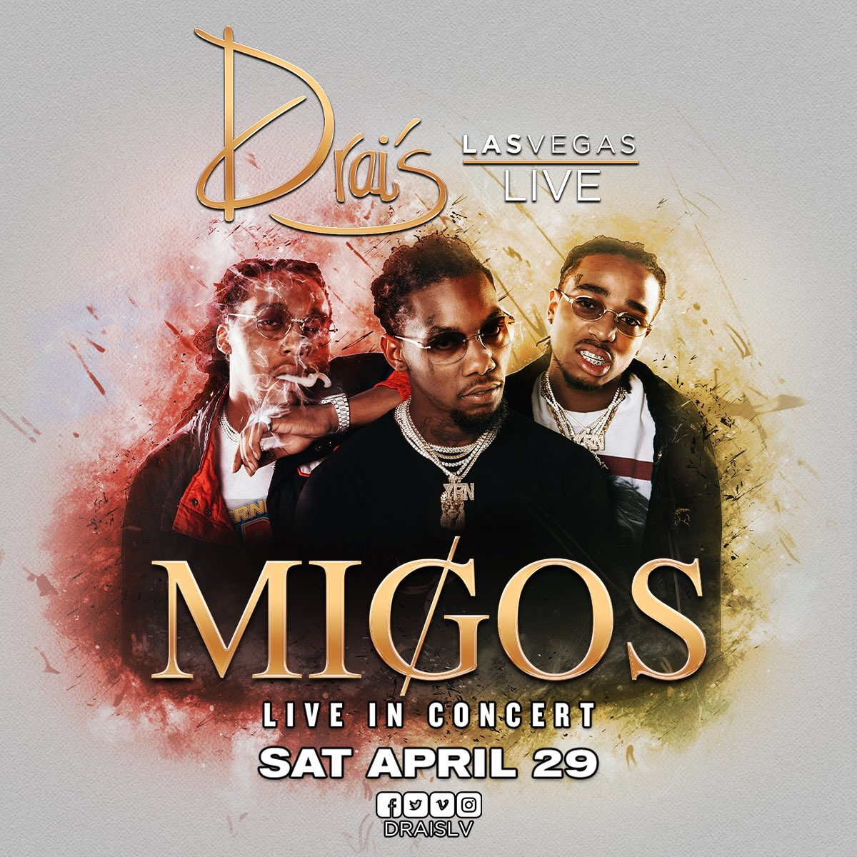 Vegas! #DraisLIVE inside @DraisLV Nightclub on Saturday, April 29th! T...